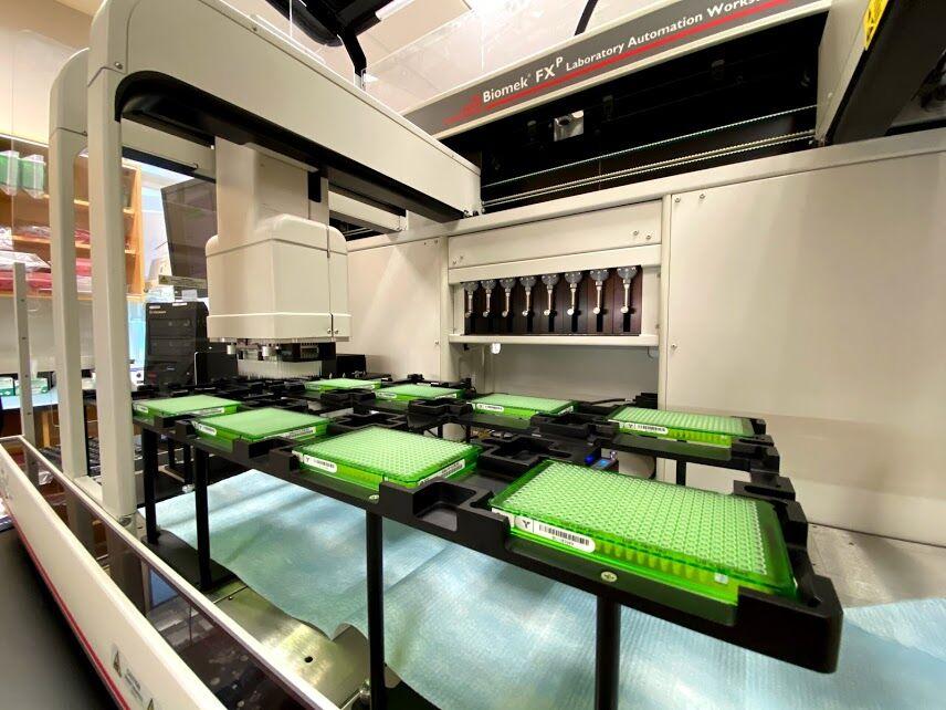 Biomek FX liquid handling robot